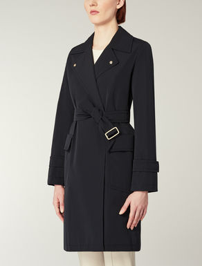 Water-repellent faille overcoat