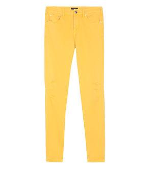 Pantaloni skinny in raso di cotone