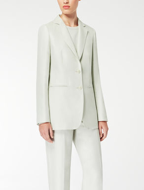 Linen, cotton and silk twill jacket