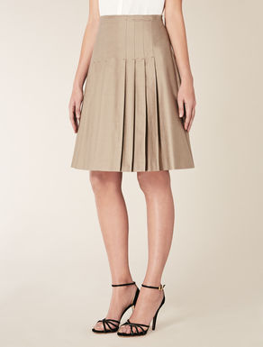 Silk and cotton skirt