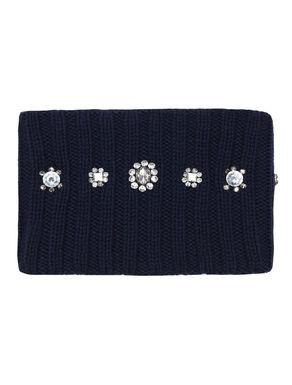 Collo di maglia con ricamo bijou