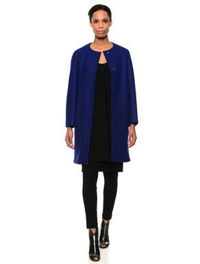 Maxi cappotto in lana cotta