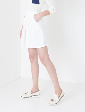 Mini gonna pantalone di gabardine