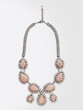 Rhinestone and bead necklace