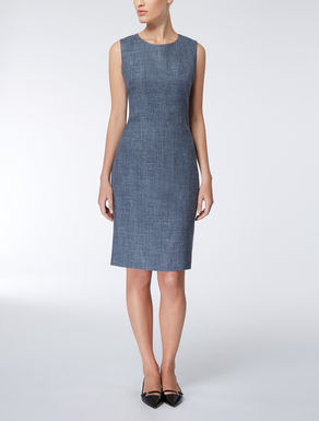 Silk, linen and wool dress