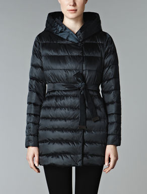 Reversible wrapover mini down jacket