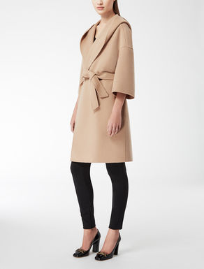 Wool wraparound coat