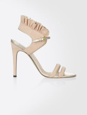 Suede and Nappa leather sandals