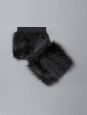 Extra-large fox fur cuffs