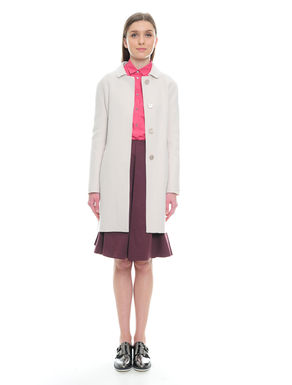 Cappotto in drap di lana e angora