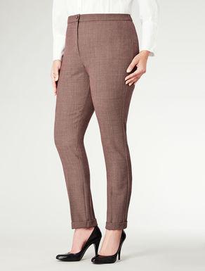 Pantalone slim con risvolto