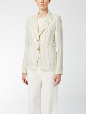 Pin-stripe linen jacket