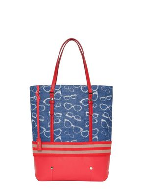Embossed tote bag