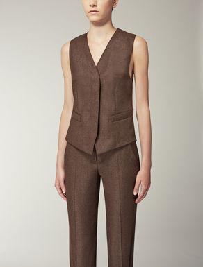 Wool and silk waistcoat