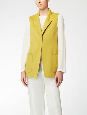 Wool and angora waistcoat