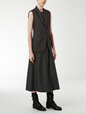 Wool and silk gilet