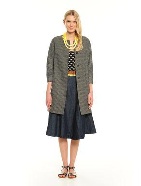 Cappotto in lino stampato