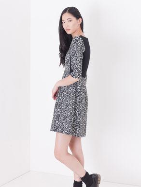 Corolla Dress jacquard floreale