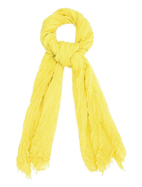 Sciarpa di cotone/lino goffrato