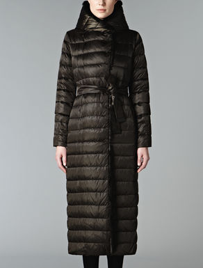Down jacket with lapin trim
