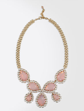 Collier pierreries et strass