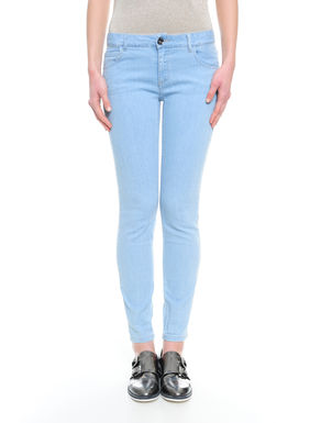 Pantalone in denim stampato