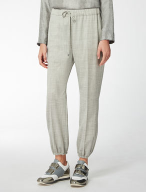 Wool poplin trousers