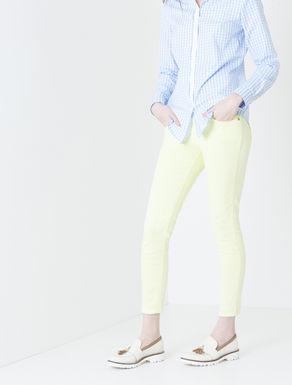 Pantaloni skinny effetto marmorizzato