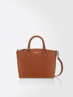 Ginevra leather bowling bag