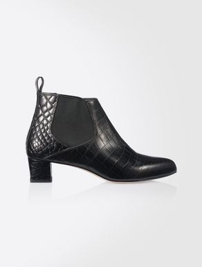Ankle boot in pelle stampata