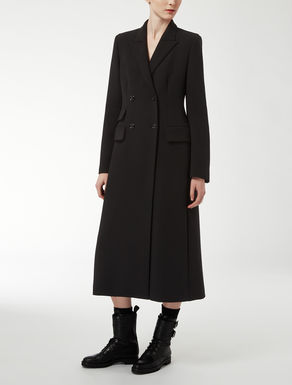 Wool crepe coat
