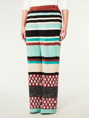 Pantalone ampio con motivo a righe