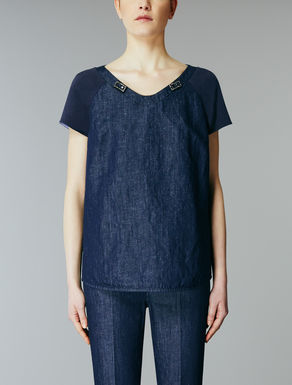 Cotton denim t-shirt