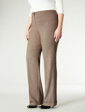 Pantaloni con stampa Pied de poule