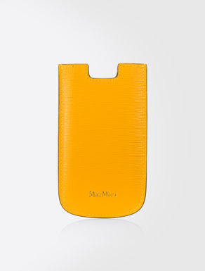 Custodia porta iPhone in pelle