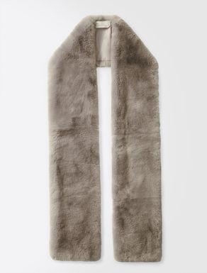 Schal aus Kaninchenpelz