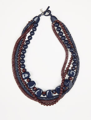 Multi-strand resin necklace
