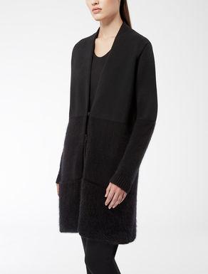 Cardigan en laine, soie et angora