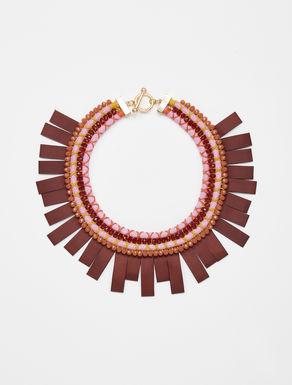 Ethnic fringed necklace