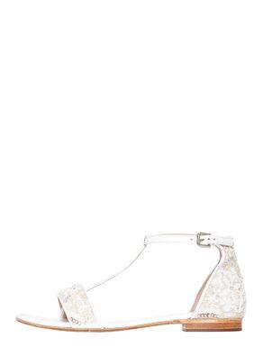Sandali di nappa con decoro bijou