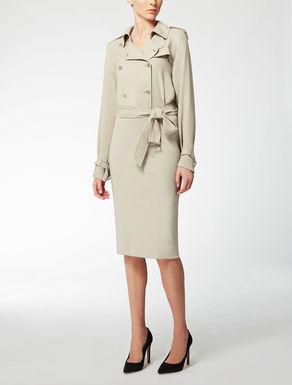 Kleid aus Georgette und Jersey