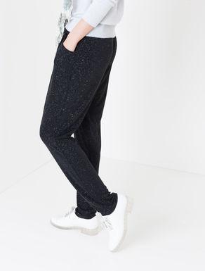 Pantaloni jogging di jersey glitter