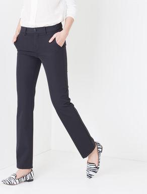Pantaloni straight di tessuto stretch