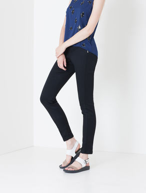 Pantaloni skinny fit con doppia zip