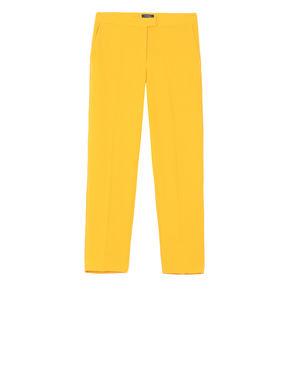 Pantaloni slim di tessuto martellato