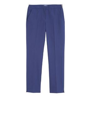 Pantaloni slim con texture jacquard