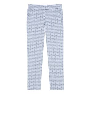 Pantaloni slim fit di cotone jacquard