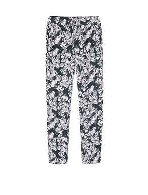 Pantaloni slim fit di sablé stampato