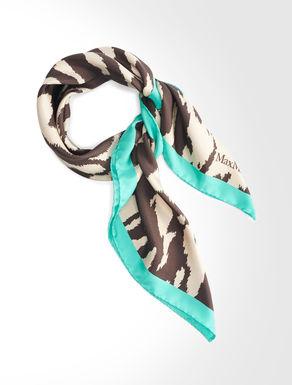 Printed twill silk scarf