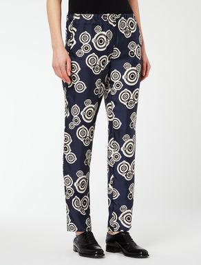 Pantalon en twill de soie